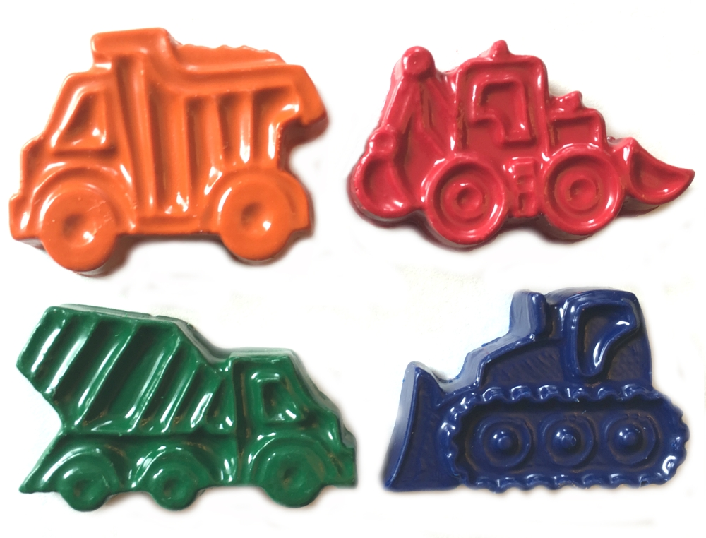 Construction Vehicle Crayons