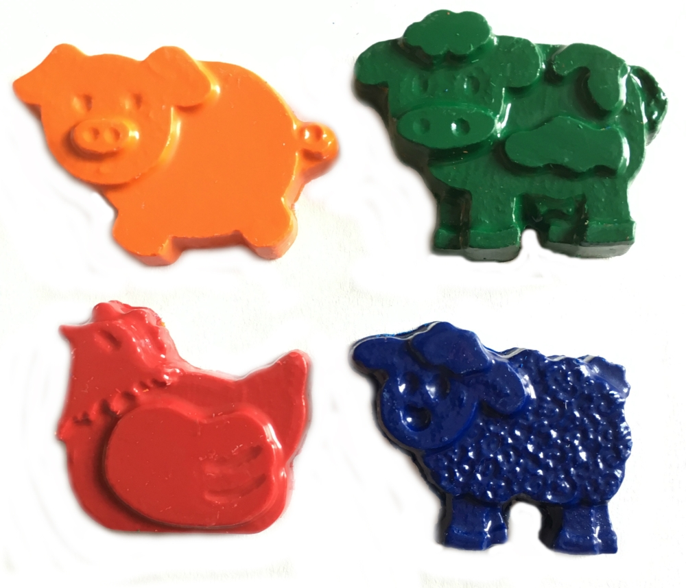 Farm Animal Crayons